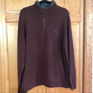 The North Face Men's Sweater 1/2 Zip Brown XL